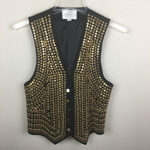 Vintage Ayako gold studded vest jacket
